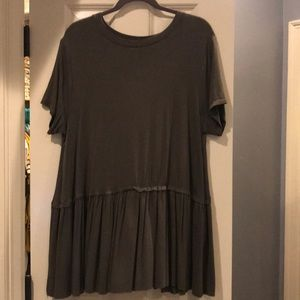 Olive Green peplum top